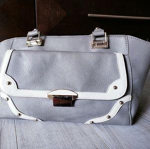 Grey and white Nila Anthony handbag